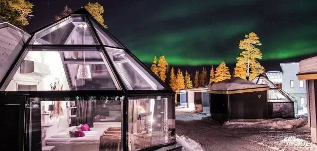 体验酒店里的奇迹!看极光怎么能少得了拉普兰玻璃冰屋!